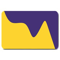 Purple Yellow Wave Large Doormat  by Mariart