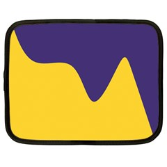 Purple Yellow Wave Netbook Case (large) by Mariart