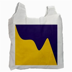 Purple Yellow Wave Recycle Bag (one Side) by Mariart