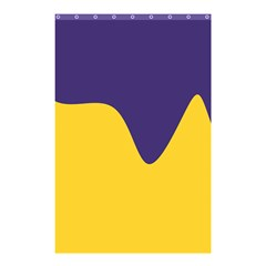 Purple Yellow Wave Shower Curtain 48  X 72  (small)  by Mariart