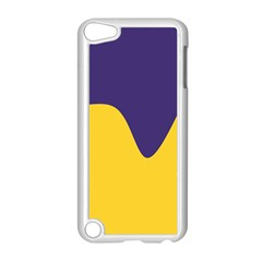 Purple Yellow Wave Apple Ipod Touch 5 Case (white) by Mariart