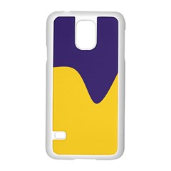 Purple Yellow Wave Samsung Galaxy S5 Case (white) by Mariart