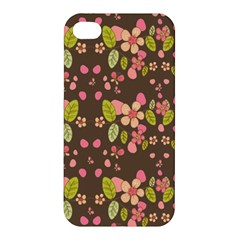 Floral Pattern Apple Iphone 4/4s Hardshell Case by Valentinaart