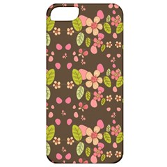 Floral Pattern Apple Iphone 5 Classic Hardshell Case by Valentinaart