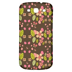 Floral Pattern Samsung Galaxy S3 S Iii Classic Hardshell Back Case by Valentinaart