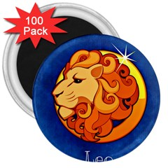 Zodiac Leo 3  Magnets (100 Pack) by Mariart