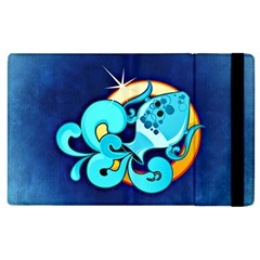 Zodiac Aquarius Apple Ipad 3/4 Flip Case by Mariart