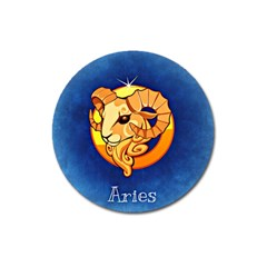 Zodiac Aries Magnet 3  (round) by Mariart