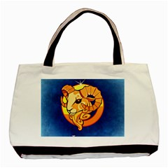 Zodiac Aries Basic Tote Bag (Two Sides) by Mariart
