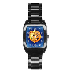 Zodiac Aries Stainless Steel Barrel Watch by Mariart