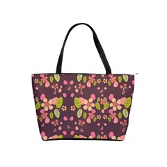 Floral Pattern Shoulder Handbags by Valentinaart