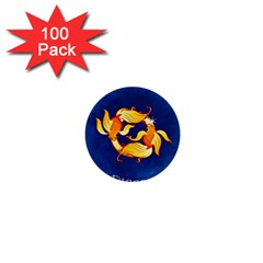 Zodiac Pisces 1  Mini Buttons (100 Pack)  by Mariart