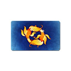 Zodiac Pisces Magnet (name Card) by Mariart