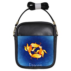 Zodiac Pisces Girls Sling Bags by Mariart