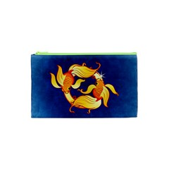 Zodiac Pisces Cosmetic Bag (xs) by Mariart