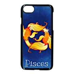 Zodiac Pisces Apple Iphone 7 Seamless Case (black) by Mariart