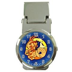 Zodiac Capricorn Money Clip Watches by Mariart