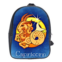 Zodiac Capricorn School Bags(large)  by Mariart