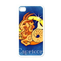 Zodiac Capricorn Apple Iphone 4 Case (white) by Mariart