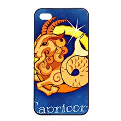 Zodiac Capricorn Apple Iphone 4/4s Seamless Case (black) by Mariart