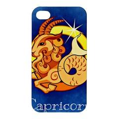 Zodiac Capricorn Apple Iphone 4/4s Premium Hardshell Case by Mariart