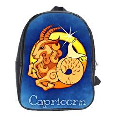 Zodiac Capricorn School Bags (xl)  by Mariart