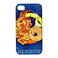 Zodiac Capricorn Apple Iphone 4/4s Hardshell Case With Stand by Mariart