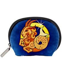 Zodiac Capricorn Accessory Pouches (small)  by Mariart