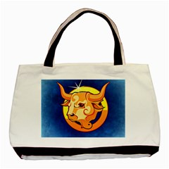 Zodiac Taurus Basic Tote Bag (two Sides) by Mariart