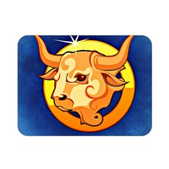 Zodiac Taurus Double Sided Flano Blanket (mini)  by Mariart