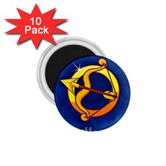 Zodiac Sagittarius 1 75  Magnets (10 Pack)  by Mariart