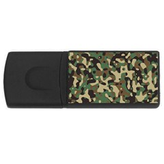 Army Camouflage USB Flash Drive Rectangular (4 GB) by Mariart