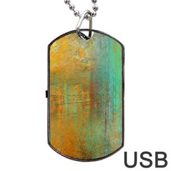 The Waterfall Dog Tag Usb Flash (one Side) by theunrulyartist