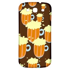 A Fun Cartoon Frothy Beer Tiling Pattern Samsung Galaxy S3 S Iii Classic Hardshell Back Case by Nexatart