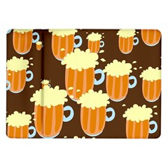 A Fun Cartoon Frothy Beer Tiling Pattern Samsung Galaxy Tab 10 1  P7500 Flip Case by Nexatart