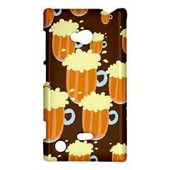A Fun Cartoon Frothy Beer Tiling Pattern Nokia Lumia 720 by Nexatart