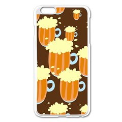 A Fun Cartoon Frothy Beer Tiling Pattern Apple Iphone 6 Plus/6s Plus Enamel White Case by Nexatart