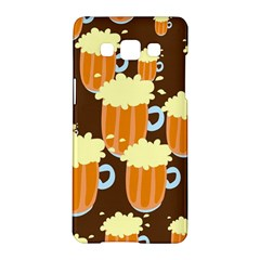 A Fun Cartoon Frothy Beer Tiling Pattern Samsung Galaxy A5 Hardshell Case  by Nexatart