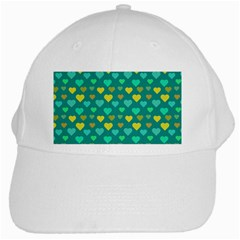 Hearts Seamless Pattern Background White Cap by Nexatart