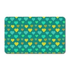Hearts Seamless Pattern Background Magnet (Rectangular) by Nexatart