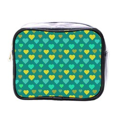 Hearts Seamless Pattern Background Mini Toiletries Bags by Nexatart