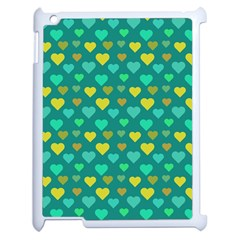 Hearts Seamless Pattern Background Apple Ipad 2 Case (white) by Nexatart