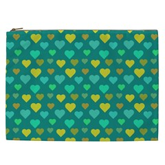 Hearts Seamless Pattern Background Cosmetic Bag (xxl)  by Nexatart