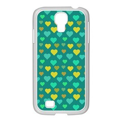 Hearts Seamless Pattern Background Samsung GALAXY S4 I9500/ I9505 Case (White)