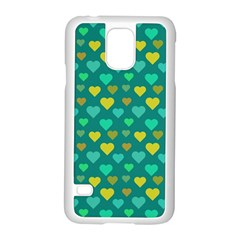 Hearts Seamless Pattern Background Samsung Galaxy S5 Case (white) by Nexatart