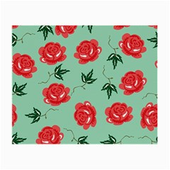 Red Floral Roses Pattern Wallpaper Background Seamless Illustration Small Glasses Cloth by Nexatart