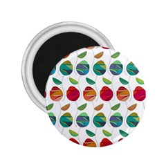 Watercolor Floral Roses Pattern 2 25  Magnets by Nexatart