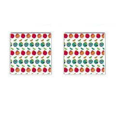 Watercolor Floral Roses Pattern Cufflinks (square) by Nexatart