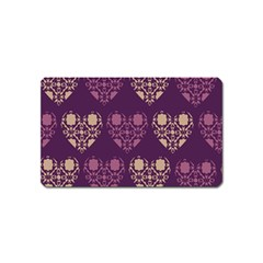 Purple Hearts Seamless Pattern Magnet (name Card) by Nexatart