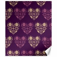 Purple Hearts Seamless Pattern Canvas 8  X 10  by Nexatart